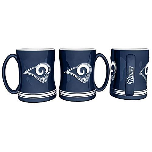 Boelter Brands NFL Los Anegles Rams Coffee Mug14oz Sculpted Relief, Team Color, 14 Ounce