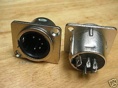 (Gimax 50 XLR 5-Pin Panel Chassis Male Socket DMX Intercom X5M)