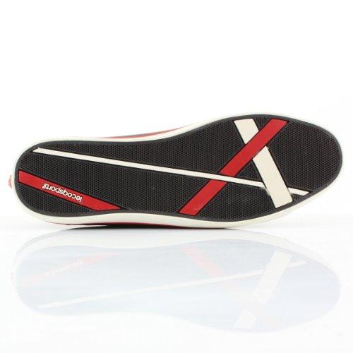 Le coq sportif Zapatilla Honfleur Piel Marron oscuro-Rojo Marron oscuro-Rojo