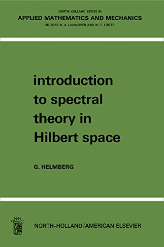 Introduction to Spectral Theory in Hilbert Space: North-Holland Series in Applied Mathematics and Mechanics