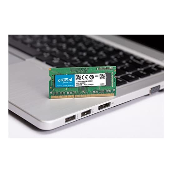 Crucial 8GB Kit (4GBx2) DDR3/DDR3L 1600 MT/S (PC3-12800) Unbuffered SODIMM 204-Pin Memory - CT2KIT51264BF160B 41fTMAfmwlL. SS555