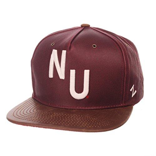 ZHATS NCAA Nebraska Cornhuskers Adult Men Tribute Heritage Collection Hat, Adjustable, Team Color/Cracked Leather - Nebraska Cornhuskers Brown Football