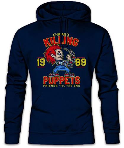 Urban Backwoods Killing Puppets Hoodie Hooded Sweatshirt Sweater Blue]()