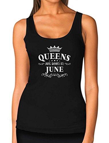TeeStars - Birthday Gift for Women - Queens are Born in June Women Tank Top Large Black