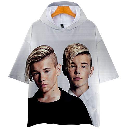 MARCUS&MARTINUS Capuchon T-shirt Cosplay Tops Met Korte Mouw Zomerjurk Volleybalpak Blouses Casual Mode Voor Mannen en…