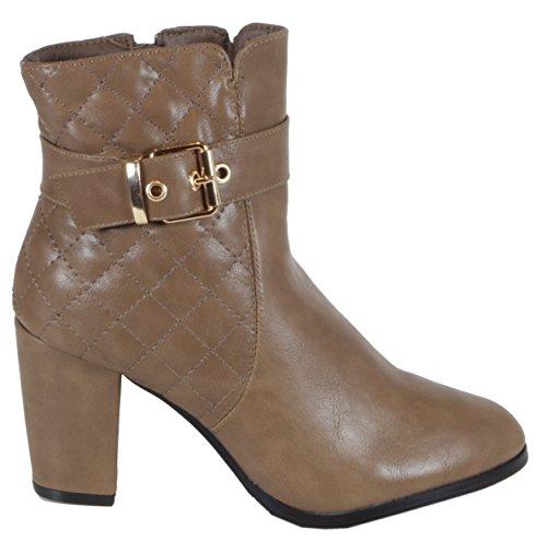 trendBOUTIQUE - Zapatillas de caña alta de material sintético mujer, color negro, talla 38