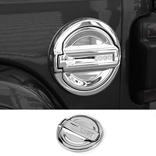 YOUNGERCAR Fuel Oil Tank Cover Fit for 2018 2019 Jeep Wrangler JL ABS Chrome