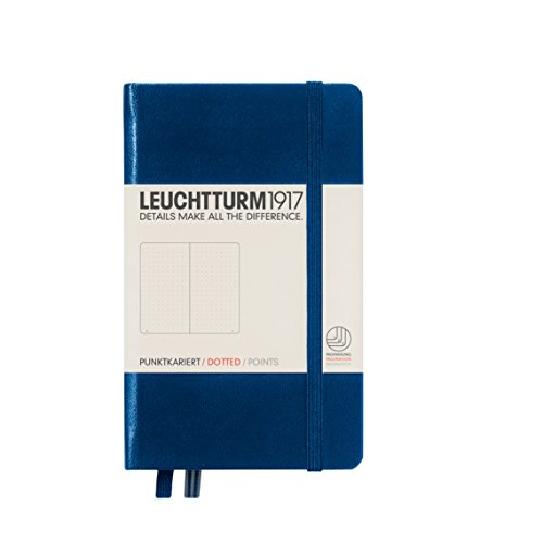 Leuchtturm1917 A6 Pocket Dotted Notebook- Navy, 185 numbered pages