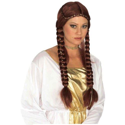 Braided Renaissance Wig (Forum Novelties Women's Braided Renaissance Wig, Auburn, One Size)