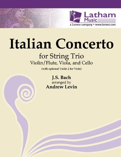 Italian Concerto for Violin/Flute, Viola and Cello: With Optional 2nd Violin for Viola (The River Flute And Fiddle)