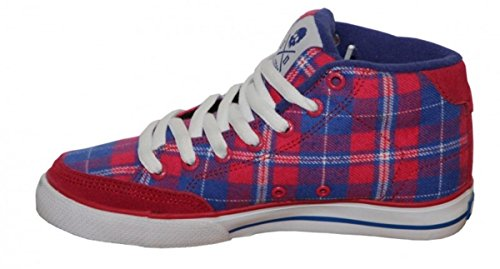 Circa Skateboard Schuhe ALW 50 Mid Red/Blue/White Plaid Sneakers Shoes
