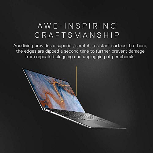DELL XPS 9300 13.3-inch FHD Laptop (10th Gen Core i5-1035G1/8GB/512GB SSD/Windows 10 Home Plus & MS Office 365- 1Yr Subscription/Intel HD Graphics), Silver