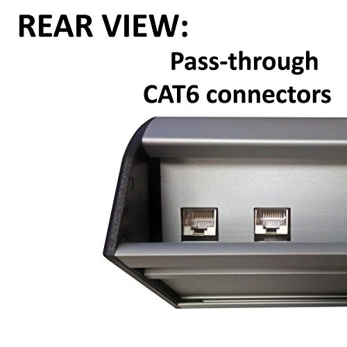 Power & Data Desk Edge Mount Tabletop Center - 3 Power and 2 Ethernet CAT6 RJ45 Data ports by Electriduct (Image #2)