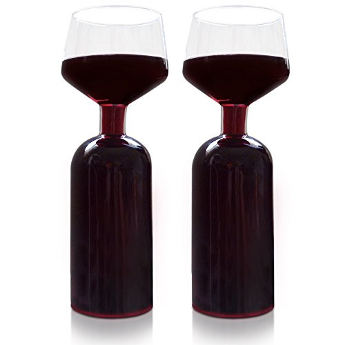 Wine glass set, each holds half bottle, 375 ml, red and White wine compatible, great wine gift idea