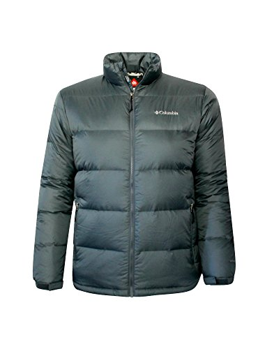 Columbia Men Big Bend Omni-Heat Double Thermal Reflective Down Jacket (S, Grey)