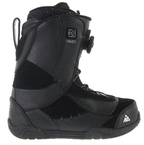 K2 Haven Boa Coiler Womens Snowboard Boots Black Sz 6