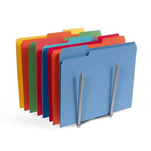 - Adjustable Stainless Steel Table Desk Top File Magazine Holder Stacking Sorter Organizer Rack