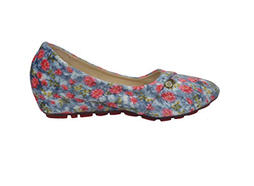 Girl's Print Colorful with Flower Shoes Grey flat Ballerina Wild Comfort On Slip rBwvCqAr