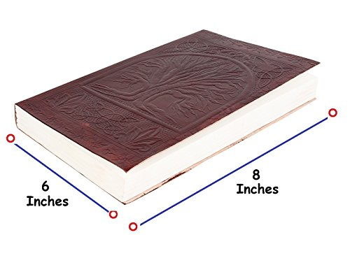 Rustic Town Handmade Vintage Antique Looking Genuine Leather Journal Notebook  Tree of Life  Gift for Men Women Gift for Him Her
