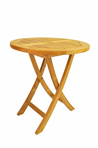 Anderson Teak Bahama Round Bistro Folding Table, 27-Inch ()