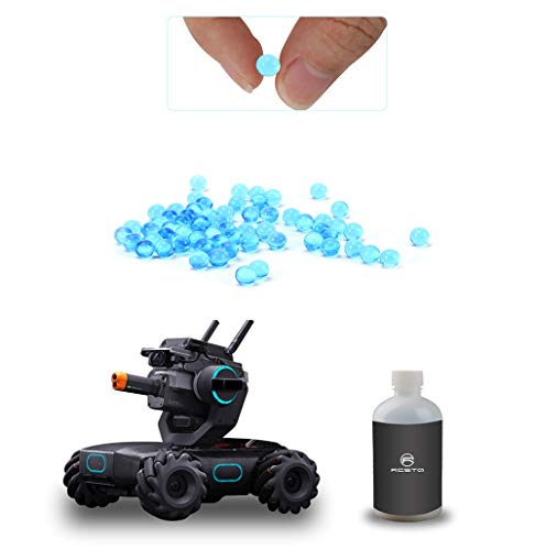 (RCstyle High-End Intelligence Toy Tank Shooting Water Pearls Gel Soft Foam Bullet Compatible with DJI Robomaster S1 Supplement Accessories About 30000pcs (Blue))