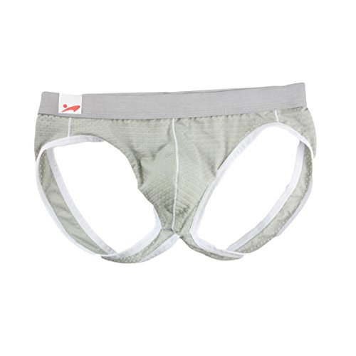 Soft Sexy Briefs Stretch Underpants Hip Lifting Trunks Nylon Breathable Mesh Knickers Trunks Clearance (S, Gray) ()