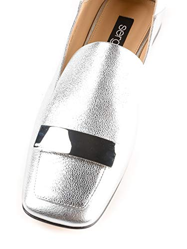 Leather Argento Silver Sr1 Rossi Donna Slippers Sergio FAtwqRxpn