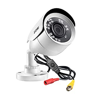 ZOSI 2MP 1080p HD Security Camera Outdoor Indoor 1920TVL (Hybrid 4-in-1 HD-CVI/TVI/AHD/960H Analog CVBS),24PCS LEDs,80ft Night Vision, 90°View Angle, Weatherproof Surveillance CCTV Bullet Camera