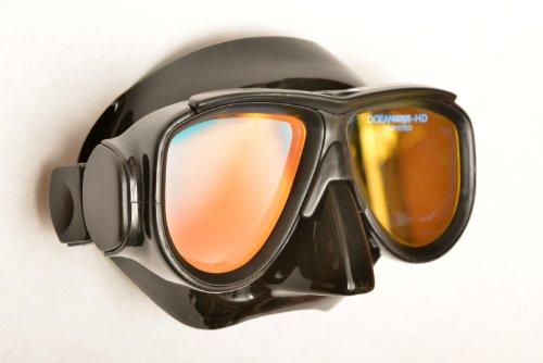 SeaDive Oceanways OceanCat-HD High Definition w/Anti-UV/Glare w/Anti-Fog Scuba/Spearfishing Dive Mask (OM964BKSFF) -