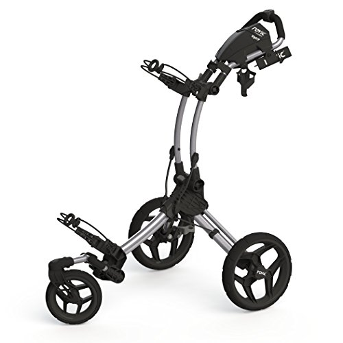 Clicgear Rovic Model RV1S Swivel | 3-Wheel Golf Push Cart (Silver/Black) ()
