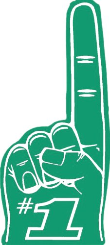 18  Foam  1 Fingers   Green  1 Dozen