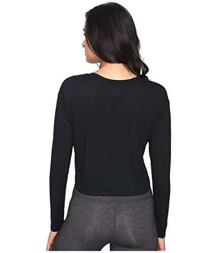 Nike Vrouwen Essentieel Lange Mouwen Hbr Gewas Top Shirt Zwart / Wit