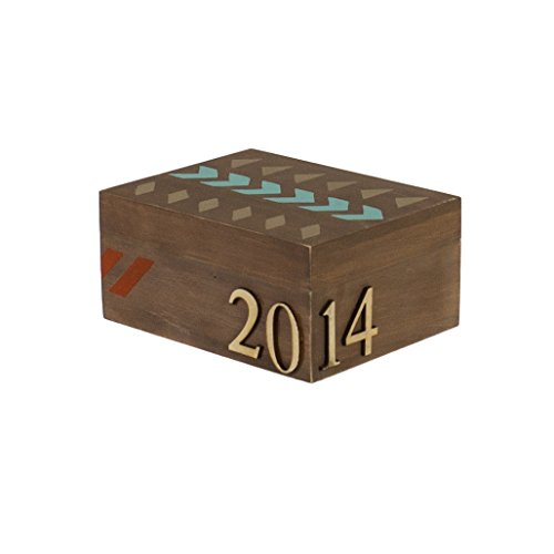 Walnut Hollow Unfinished Wood Classic Box with Hinged Lid for Arts, Crafts, Hobbies and Home Storage