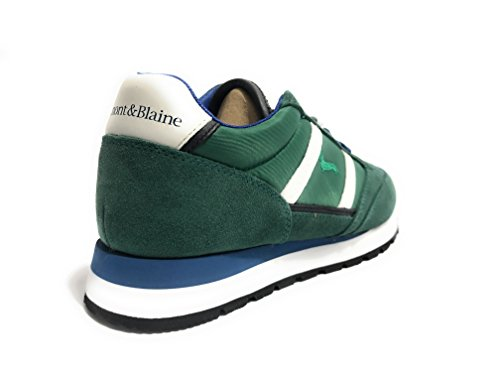 Harmont & Blaine Hommes Chaussures Sneaker Running Tissu / Suede Cuir Col. Vert Us18hb02