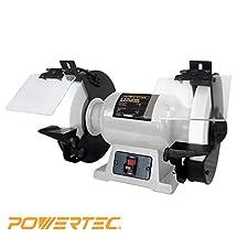 """POWERTEC BGSS801 Slow Speed Bench Grinder, 8"""""""