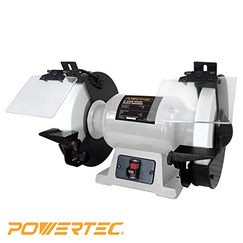 POWERTEC BGSS801 Slow Speed Bench Grinder, 8