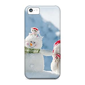 New Arrival Cover Case With Nice Design For Iphone 5c- Snowmen