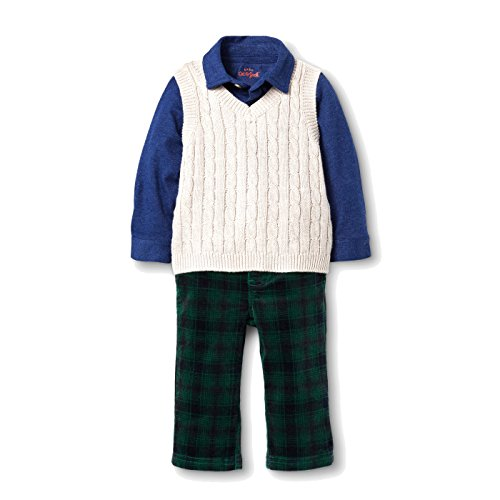 - Cat & Jack Baby Boys' Vest, Shirt and Corduroy Pants Set Nightfall Blue 3-6M