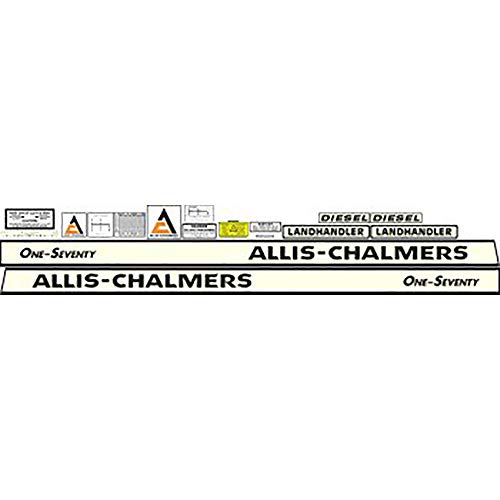 - Complete 170 Allis Chalmers Tractor Decal Kit