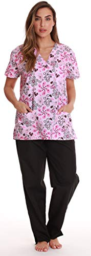 (Just Love Nursing Scrubs Set for Women Print Scrubs 1311V-32-L)