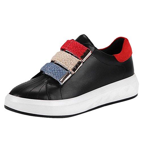 Mee Shoes Women's Fashion School Work Loafer Flats Black ACKVDy7uR