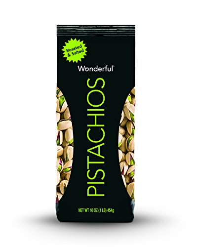 - Wonderful Pistachios, Roasted and Salted, 16 Ounce Bag