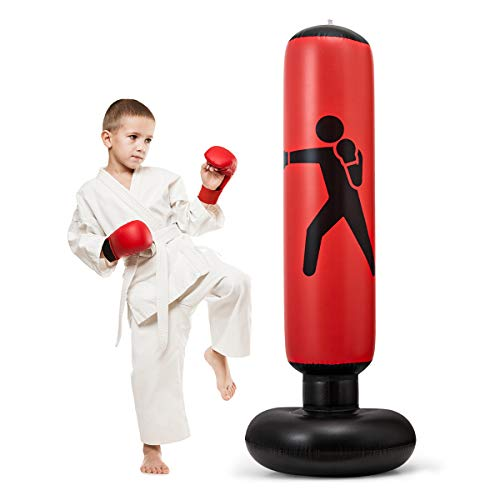 Eokui,Inflatable Vertical Kids Boxing Bag, Adult Punching Bag, Soft, Convenient, Safe, Suitable for Exercise and…