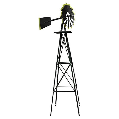 SMV Industries 8 ft. Windmill - Black and Gold