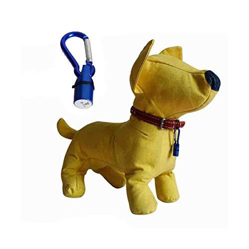 Jesiceeal New Creative Hot! Waterproof LED Flash Pendant Light Pet Dog Cat Safety Blinker Night Collar Tags N2 M30 Blue 19MM