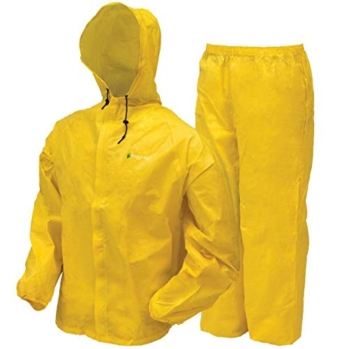 Frogg Toggs Ultra-Lite2 Waterproof Breathable Rain Suit, Youth, Bright Yellow, Size Medium