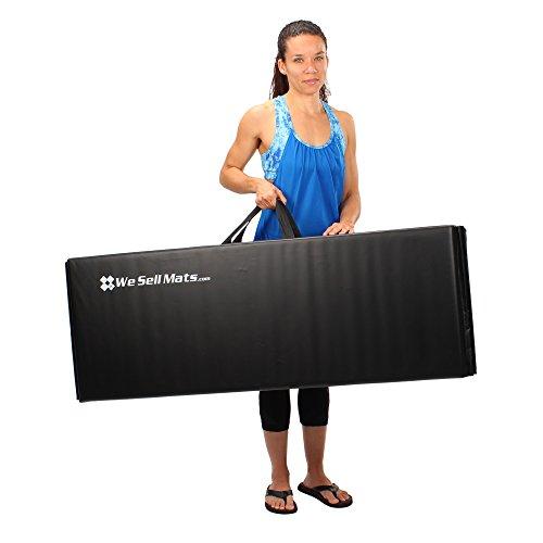 We Sell Mats Folding Exercise Gym Mats, 4x6, Black