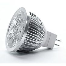 12V 4W MR16 LED Bulb - 3200K Warm White LED Spotlight - 50Watt Equivalent - 330 Lumen 45 Degree Beam Angle