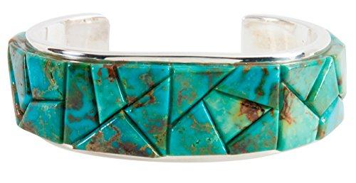 Kingman Turquoise Bracelet (Navajo Native American Kingman Mine Turquoise Bracelet by Quintana)