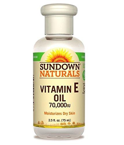 Sundown Naturals Vitamin E Oil 70,000 IU - 2.5 oz, Pack of 6